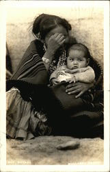 "Indian Mother & Baby ""Shy Navajo"""