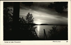 Sunset on Lake Champlain Postcard