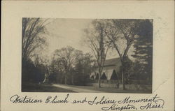Unitarian Church and Soldiers Monument Postcard