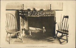 Fireplace in Ye Olde Tavern Postcard