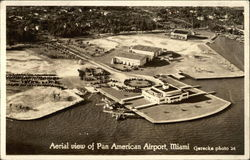 Aerial View of Pan American Airport Postcard