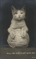 Cat and Ball of Yarn