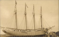 Four-Masted Sailing Vessel
