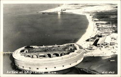 Air View of Ship Island, Fort Massachusetts