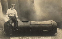 Bobby Leach and his Barrel after his perilous trip over Niagara Falls