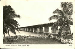 Oversea Highway From Pigeon Key Postcard