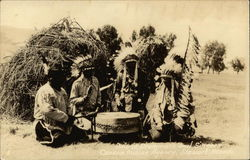 Paiute Drummers and Singers, Carson Indian Agency