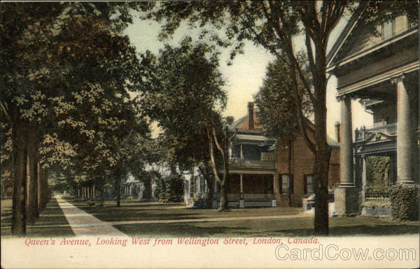 Queen's Avenue, Looking West from Wellington Street London Canada