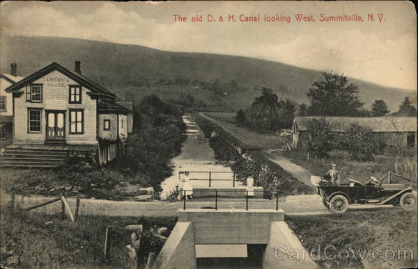 The old D. & H. Canal Looking West Summitville New York