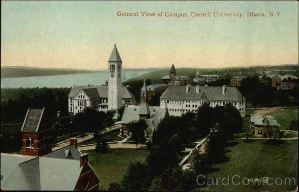Cornell University - General View of Campus Ithaca New York