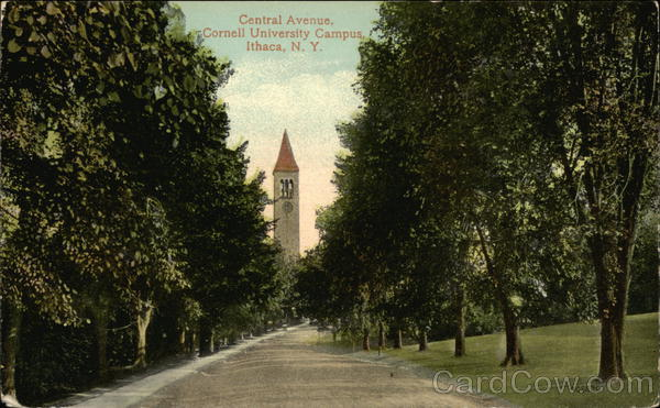 Central Avenue, Cornell College and Campus Ithaca New York