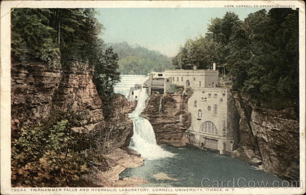 Triphammer Falls and Hydraulic Laboratory, Cornell University Ithaca New York