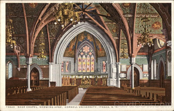 Cornell University - Sage Chapel showing Apse Ithaca New York