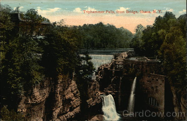 Triphammer Falls, from Bridge Ithaca New York