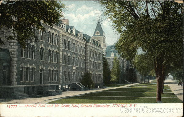 Morrill Hall and McGraw Hall, Cornell University Ithaca New York