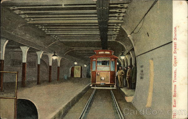East Boston Tunnel, Court Street Station Massachusetts