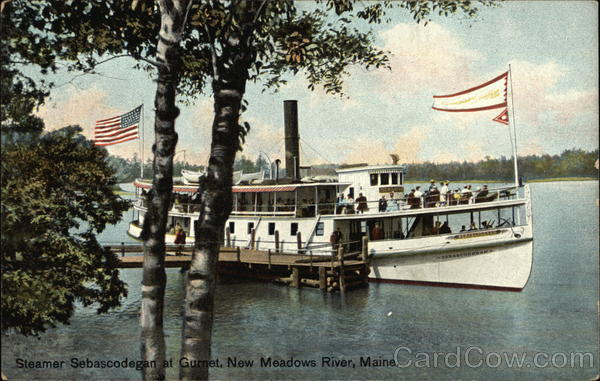 Steamer Sebascodegan at Gurnet, New Meadows River Harpswell Maine