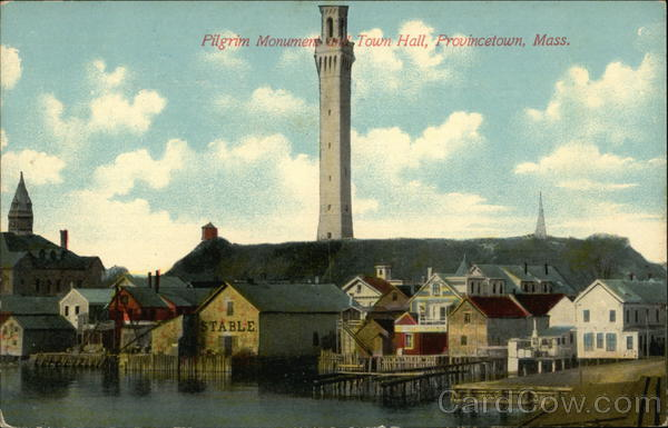 Pilgrim Monument and Town Hall Provincetown Massachusetts