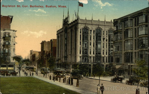 Boylston Street, Corner of Berkely Street Boston Massachusetts
