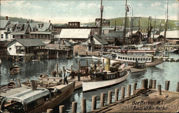Docks at Bar Harbor Maine