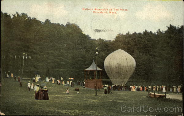Baloon Ascension at The Pines Groveland Massachusetts