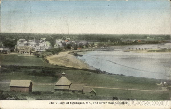 The Village of Ogunquit and River Maine