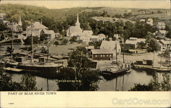 View of the Town Bear River Village Canada Nova Scotia