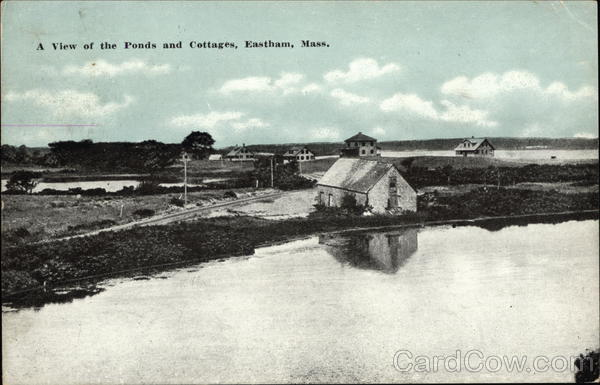 A View of the Ponds and Cottages Eastham Massachusetts