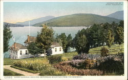 Upper Saranac Lake and Ampersand Mountain From the Wawbeek Postcard