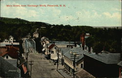 Main Street, from Exchange Block Postcard