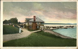 Saranac Inn Boathouse and Dock, Adirondack Mountains