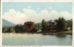 Bath House and Bathers on Lake George
