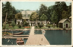 Grand View Hotel, Fourth Lake, Fulton Chain, Adirondack Mountains