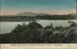 Meeting House Pond and Wachusett Mountain at Sunrise