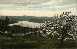 Looking Down Across Wachusett Lake From Mountain, Springtime