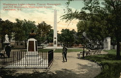 Washington Light Infantry, Timrod, Beauregard and Pitt Monuments, Washington Square