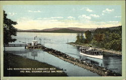 Endicott Rock and Mail Steamer, Uncle Sam, Weirs Postcard