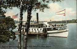 Steamer Sebascodegan at Gurnet, New Meadows River
