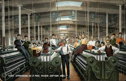 Ring Spinners in a Cotton Mill