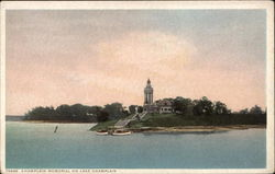 Champlain Memorial on Lake Champlain Postcard