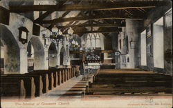 The Interior of Grasmere Church Postcard