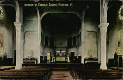 Interior of Catholic Church Postcard