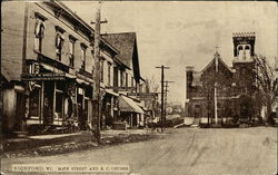 Main Street and R.C. Church Postcard