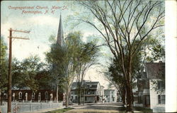 Congregational Church, Main Street Postcard