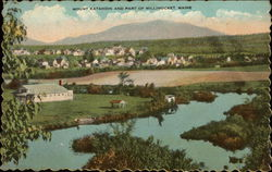 Mount Katahdin and View of Town Postcard