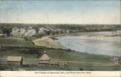 The Village of Ogunquit and River