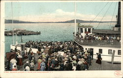 Boarding Steamer, Lake Winnipesaukee Postcard