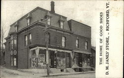 D.M. James' Store, The Home of Good Shoes Postcard