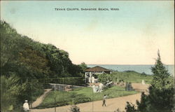 Tennis Courts Postcard