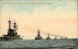 Atlantic Fleet Entering Provincetown Harbor